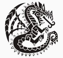 Monster Hunter Dragon Tatoo Kids Tee