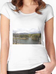 Tarn Hows Tree Scene Women's Fitted Scoop T-Shirt