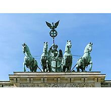 Brandenburg Gate Quadriga Berlin Photographic Print