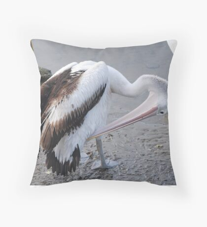 Funny Itch Throw Pillow