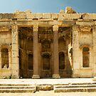 Ruins in Baalbak by Joseph Najm