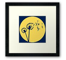Dandylion Flight - Reversed Circular Framed Print