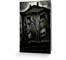A Twisted House Greeting Card