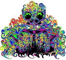 PSYCHEDELIC TARANTULA FACE Photographic Print