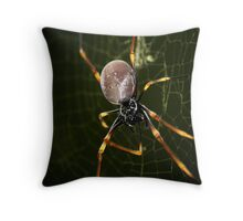 The Not So Itsy Bitsy Spider Throw Pillow