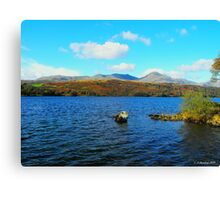 Coniston Water in the Sun Canvas Print