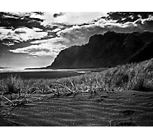 lone figure on Karekare Beach Photographic Print