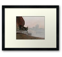 The Border Framed Print