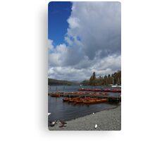 Lake Windermere Canoes Canvas Print