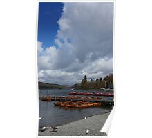 Lake Windermere Canoes Poster