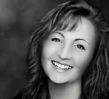 Portrait - Digital Photo Painting by Renee Dawson