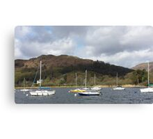 Boats on Lake Winderemere Canvas Print