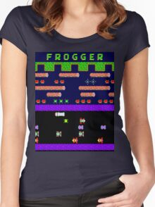 Classic 80's arcade games: Frogger Women's Fitted Scoop T-Shirt