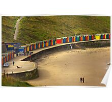 Beach Huts - Whitby Poster