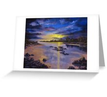 Low Tide Sunset Greeting Card