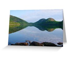 Summer Serenity, Jordan Pond Greeting Card