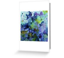 watercolor in purple and green Greeting Card