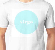 Virgo Horoscope Minimalist Typography  Unisex T-Shirt