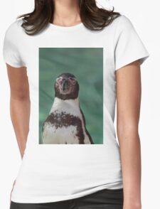 Humboldt Penguin portrait Womens Fitted T-Shirt