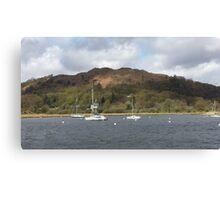 Boats Lake Windermere Canvas Print