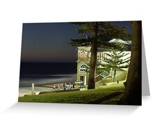 Cottesloe Beach at night Greeting Card