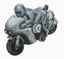 80's Plastic Toy Motorbike Sketch Kids Tee