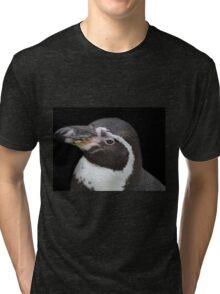 Humbolt Penguin Portrait (Cotswold) Tri-blend T-Shirt