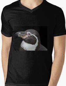 Humbolt Penguin Portrait (Cotswold) Mens V-Neck T-Shirt