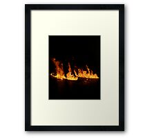 Flame Silhouette Framed Print