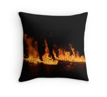Flame Silhouette Throw Pillow