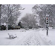 Village Green, Holiday Season, Bar Harbor, Maine Photographic Print