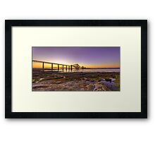 Panoramic LE HDR Sunset of the Forth Rail Bridge Framed Print