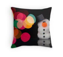Lights, Camera, Snowman! II Throw Pillow