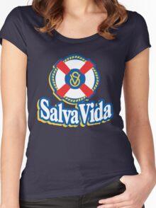 Salva Vida Cerveza - Beautiful Central American Beer of Honduras Women's Fitted Scoop T-Shirt