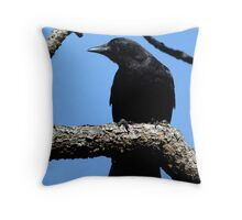 Crow Looking for that Next Handout Throw Pillow
