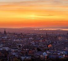 Panoramic View of the Edinburgh Skyline by Miles Gray