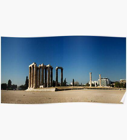 Zeus Temple Athens Poster