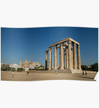 Temple of Zeus Athens Poster