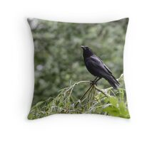 Crow Contemplation Throw Pillow