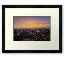 Dusk from the Crags, Edinburgh Framed Print