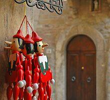 Pinocchio in Pienza by Bob  Perkoski