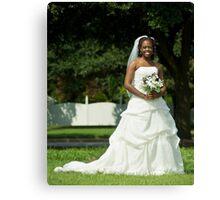 Beautiful Bride Canvas Print