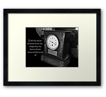 The Lateness of Love Framed Print