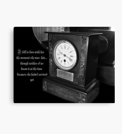 The Lateness of Love Canvas Print