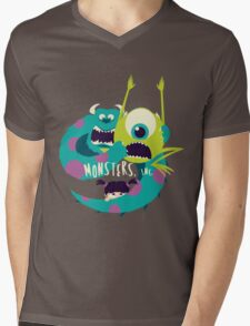 Monsters, Inc. Mens V-Neck T-Shirt