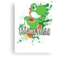 I Main Yoshi - Super Smash Bros. Canvas Print