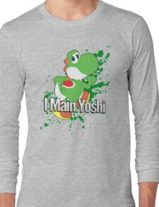 I Main Yoshi - Super Smash Bros. Long Sleeve T-Shirt