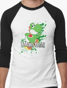 I Main Yoshi - Super Smash Bros. Men's Baseball ¾ T-Shirt