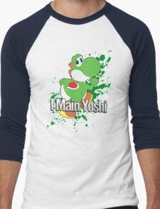 I Main Yoshi - Super Smash Bros. Men's Baseball ¾ T-Shirt