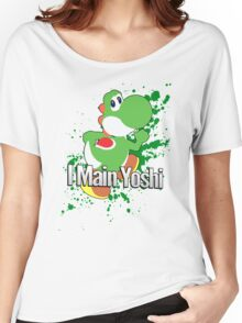 I Main Yoshi - Super Smash Bros. Women's Relaxed Fit T-Shirt
